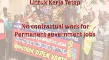 No Contractual Work For Permanent Government Jobs